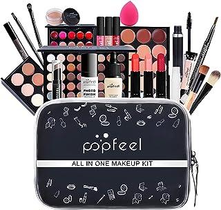 BELLESKY All In One Makeup Kit 24 Piece Makeup Multi-Purple Makeup Essential Starter Kit برای خانمها و خانمها