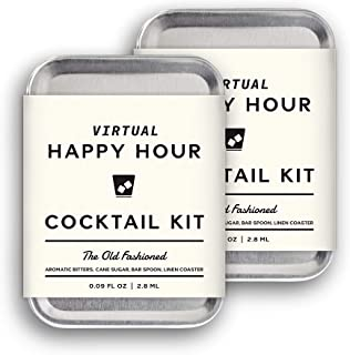 W&P The Virtual Happy Hour Cocktail Kit, Old Fashion   Pack of 2   Make at Home Craft Cocktails   No Bartending Skills Req...
