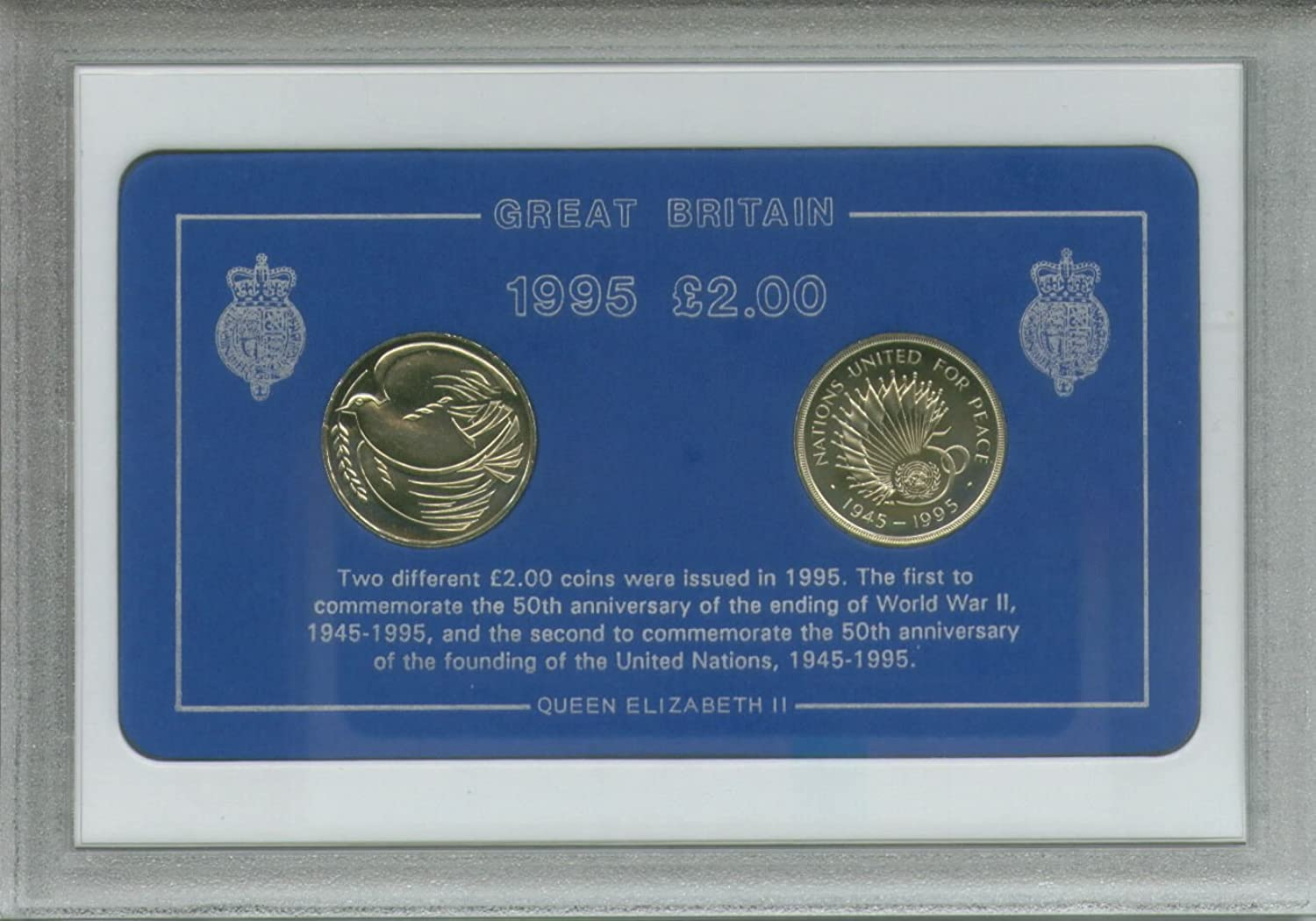 19451995 50th Anniversary of the End of WWII & Start of United Nations Commemorative £2 Coin Collector Gift Set