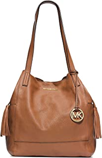 Michael Kors Extra Large Ashbury Grab Leather Bag in Brown Luggage