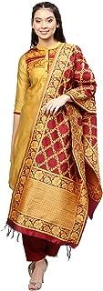 Jaipur Kurti Women's Silk Straight Salwar Suit Set