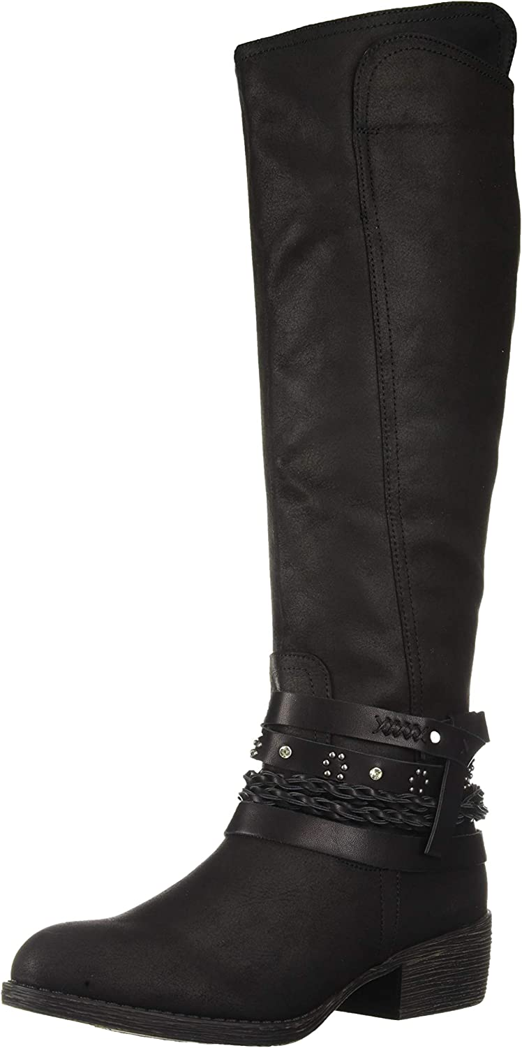 Sugar Womens Women's Twink Decorative Knee-high Riding Boot Knee High Boot