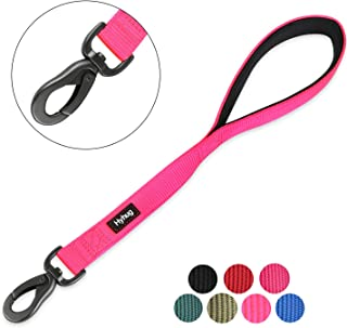 Hyhug Pets Premium Upgraded Traffic Durable Nylon 18 Inch Short Leash with Soft Padded Neoprene Lined Handle for Medium Large Giant Dogs, Daily Use and Professional Training.