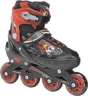 Roces 400808 Herren Modell Inlineskates Compy 6.0 Verstellbare Inline Skate, Uns 13jr-2, schwarz/rot