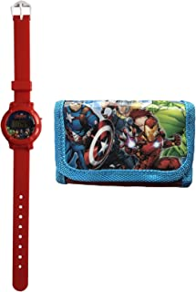 Marvel Vengadores Digital Reloj Y Cartera Oficial con Licencia Niños Set de Regalo