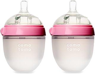 Comotomo 奶瓶,粉色, 5 Ounce,(约148ML),2只装?#23621;?#20122;马逊海外卖家 Meivita美国直邮】