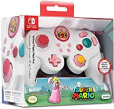 Nintendo Switch Super Mario Bros Princess Peach GameCube Style Wired Fight Pad Pro..