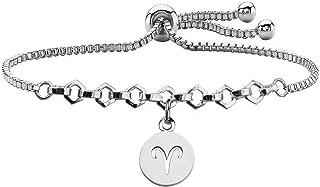 FUSTMW Zodiac Sign Bracelet Constellation Bracelets Adjustable Jewelry Simple Birthday Gift