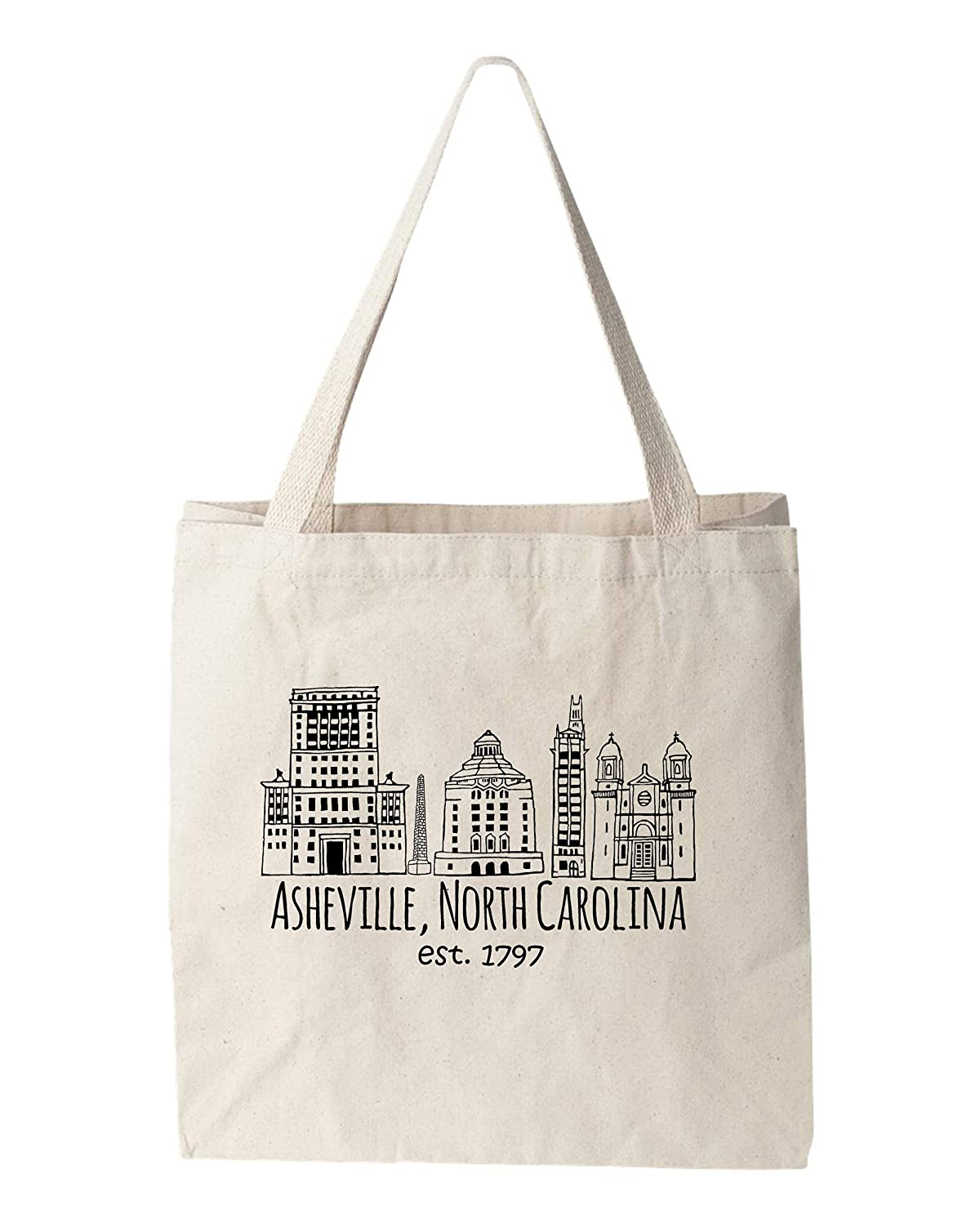 Funny Tote Max 67% OFF Bag Downtown latest Historic Printed Screen Asheville Canvas