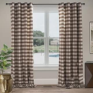 Best gingham plaid curtains Reviews