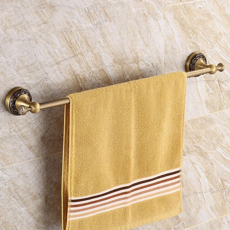 ASL Towel Bar Bao Retro Cobre Toalla Rack Single Shot Toalla Suspensión Accesorios NBN (Tamaño   45cm)