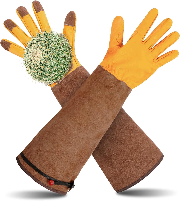 Poison Ivy Gloves, Long Gardening Gloves, Rose Pruning Gloves for Women and Men