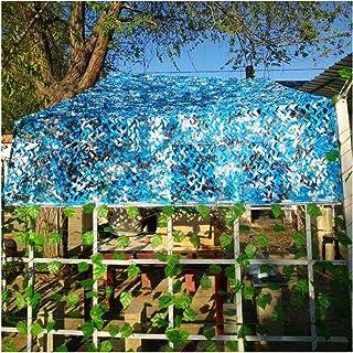 STTHOME Red de Camuflaje 2x2m 2x3m 5x6m 3x4m, Malla de Sombra de Camuflaje Azul para Cámping Ejército CS Ocultar Caza Disp...