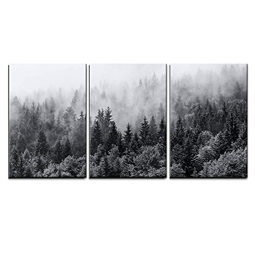 Line of Trees Black /& White Nature Art Canvas Poster Fine Print Home Wall Decor