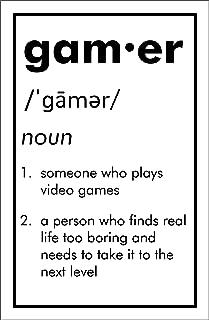 Damdekoli Definition Gamer Poster, Video Game Artwork, 11x17 Inches, Gaming Wall Art, Boys Kids Print