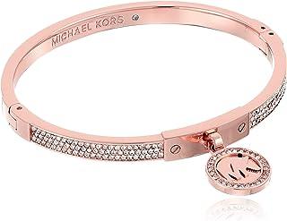 Michael Kors Plata Tone Fulton Hinge Bangle Bracelet