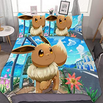 Anime Pokemon go Eevee Pikachu double two sided hugging Pillow Case Cover 63