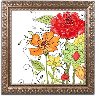 Aria II by Color Bakery, Gold Ornate Frame 11x11-Inch