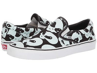 Vans Classic Slip-Ontm ((Alien Ghosts) Black/True White) Skate Shoes