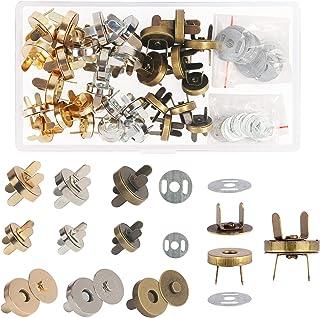 MEZOOM 90Pcs Kit de Fermoir Bouton magnetique Circulaire sets Fermoir Magnétique Rivet Bouton pour Bricolage aimants Sacs ...