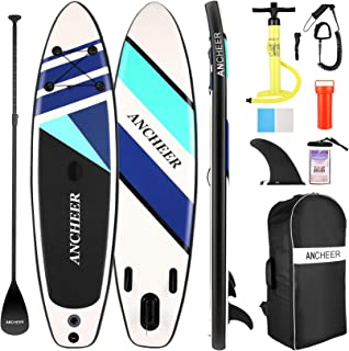 ANCHEER Inflatable Stand Up Paddle Board, All-Round SUP Board with Accessories Including Backpack, Bottom Fin for Paddlin...