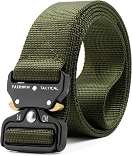 Fairwin Tactical Belt, Military Style Webbing Riggers Web...
