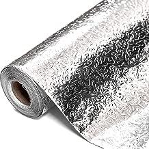 Sensko Under The Sink Mat-Prevent liquid permeation leakage,Kitchen Oil-proof aluminum foil sticke,High temperature sticker - easy to wipe and cut(15.7in×196in)