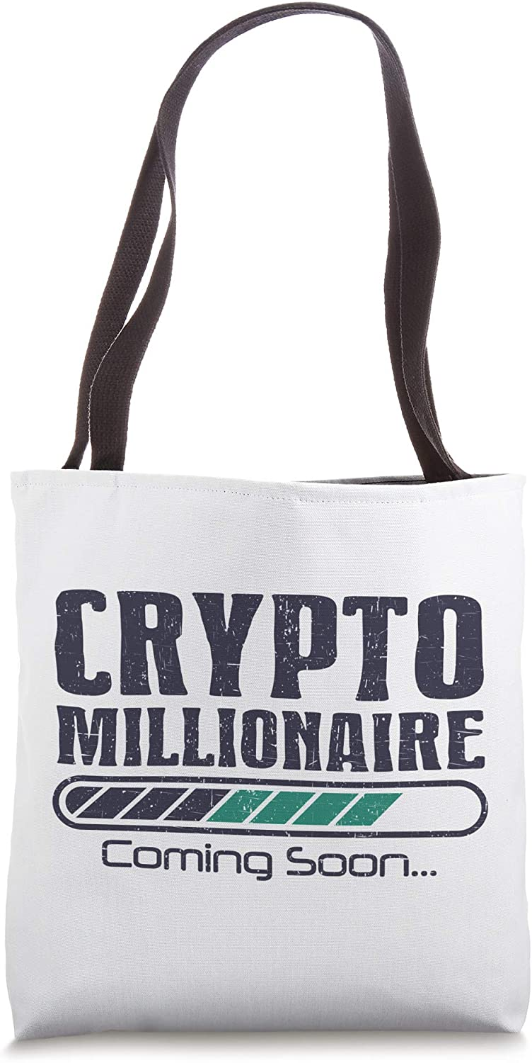 Funny Bitcoin Moon Crypto Cryptocurrency Blockchain Gift Tote Bag