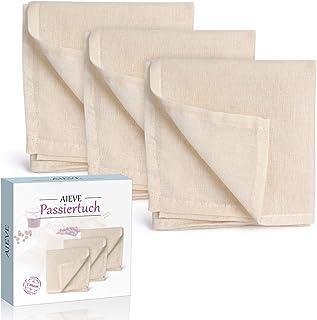 AIEVE 3 stuks passeerdoek kaasdoek filterdoek zeefdoek filter doek 100% katoen doek doeken set voor kaas bessen notenmelk ...