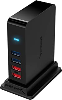 SABRENT 7 Port USB 3.0 HUB + 2 Charging Ports with 12V/4A Power Adapter [Black] (HB-U930)