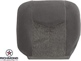 Richmond Auto Upholstery: Compatible with 2003-2007 Chevy Silverado LS LT Z71 - Driver Side Bottom Replacement Cloth Seat Cover, 69D Gray
