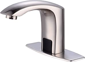Gangang Touch Free Automatic Sensor Tap Sink Hot Cold Mixer Faucet by Automatic Faucet (nickle brush)