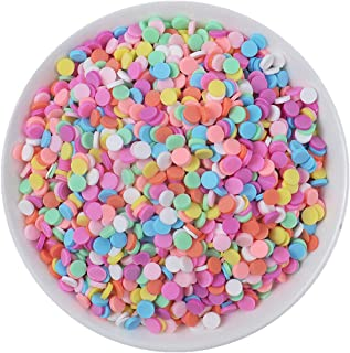 100g Resin Flatbacks Slime Accessories Clay Sprinkles Decoration for Slime Charms Filler DIY Slime Supplies Fake Candy Chocolate Cake Dessert Mud Particles Toy Scrapbook Phone Case (round6)