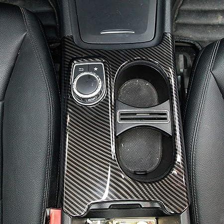 Carbon Abs Chrom Cup Holder Cover Trim Für Benz A Gla Cla Klasse C117 Faltenband Zum W176 X156 2012 2018 Für Linkslenker Auto