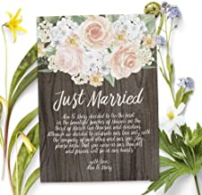 Just Married Rustic Elopement Announcement Card, Rustic Wedding Announcements Cards, Custom Marriage announcement card, Personalized Elopement Announcement Card