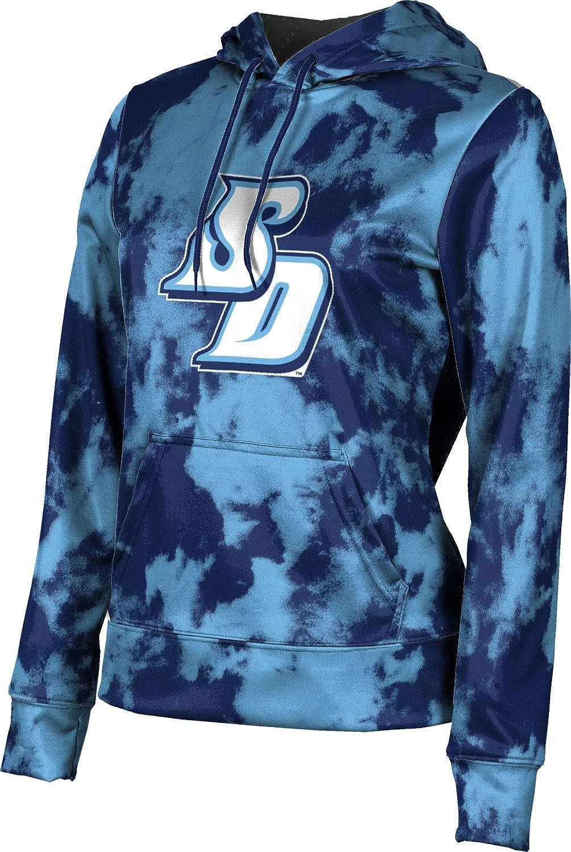 University of San Diego Girls' Pullover Hoodie, School Spirit Sweatshirt (Grunge)
