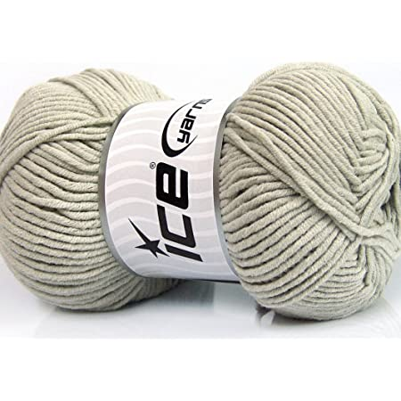 50/% Cotton Lot of 4 x 100gr Skeins Ice Yarns LORENA COLOR Yarn Green Lilac ...