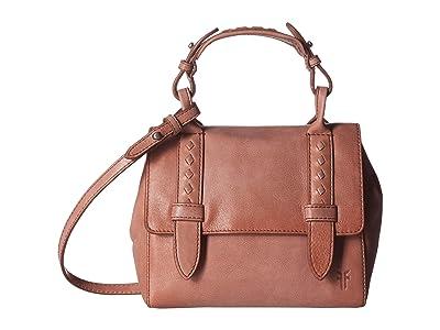 Frye Reed Mini Flap Satchel (Dusty Rose) Handbags