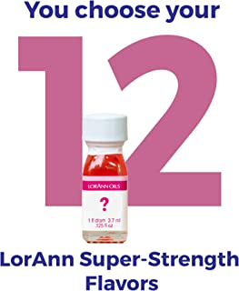 LorAnn Super Strength flavors 12 pack of 1 dram bottles (.0125 fl oz - 3.7ml) YOU CHOOSE THE FLAVORS Plus a 1 dram dropper
