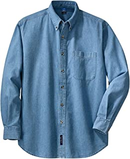 Port & Company Men's Long Sleeve Value Denim Shirt