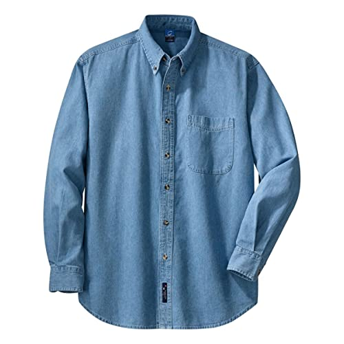 X-Future Mens Short Sleeve Dress Shirts Button Up Summer Denim Work Western Shirt
