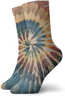 Calcetines únicos de compresión Art Tye Dye Calcetines Casuales Divertidos, Calcetines Finos Tobillo Corto para Exteriores, absorción de Humedad atlética