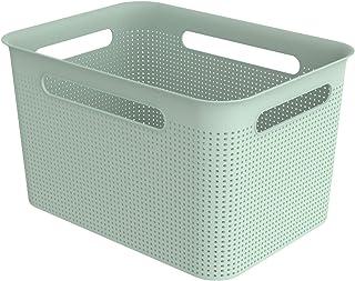 Rotho Brisen Boîte de Rangement 16L, Plastique (PP) sans BPA, Turquoise, 16L (36,0 X 26,2 X 21,1 cm)