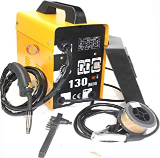 120amp Mig 130 220v Flux Core Welding Machine Welder Spool Wire Auto Feed + Fan