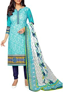 ladyline Cotton Printed Salwar Kameez Salwar Kameez for Women with Cotton Dupatt
