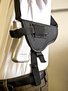 OUTBAGS USA NSH16 Nylon Horizontal Shoulder Holster w/ Double Mag Pouch. Family owned & operated. Made in USA