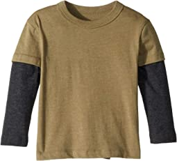 Extra Soft Twofer Long Sleeve Tee (Toddler/Little Kids)