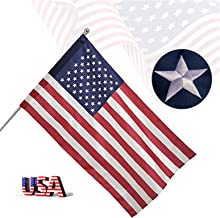 Freefy 3x5 Ft American Flag Pole Sleeve Banner Style-Embroidered Stars,Sewn Stripes,UV Protected,heavy duty Durable Nylon ...