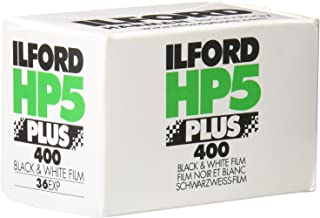 Ilford 1574577 HP5 Plus, Black and White Print Film, 35 mm, ISO 400, 36 Exposures 2 PACK