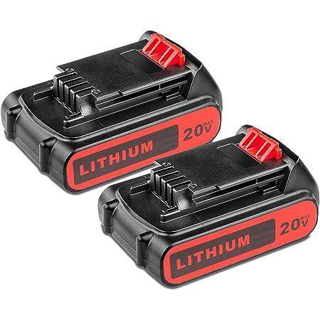 20V 3.0Ah Fit for Black and Decker Lithium Battery 20Volt Li-Ion LBXR20 LB20 US